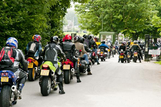 Bikers arriving at Beaulieu