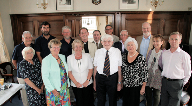 Cllr Lofts with past Mayoress Margaret Wooley and representatives of the RNLI Mudeford, Autism Wessex and Christchurch Priory