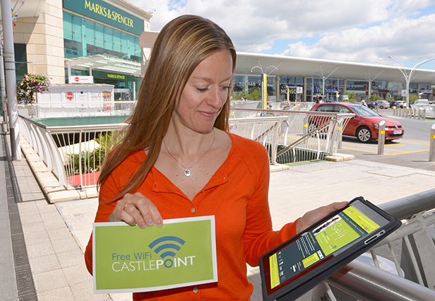 Sarah Ryan Tests the new Wi-Fi network at Castlepoint.