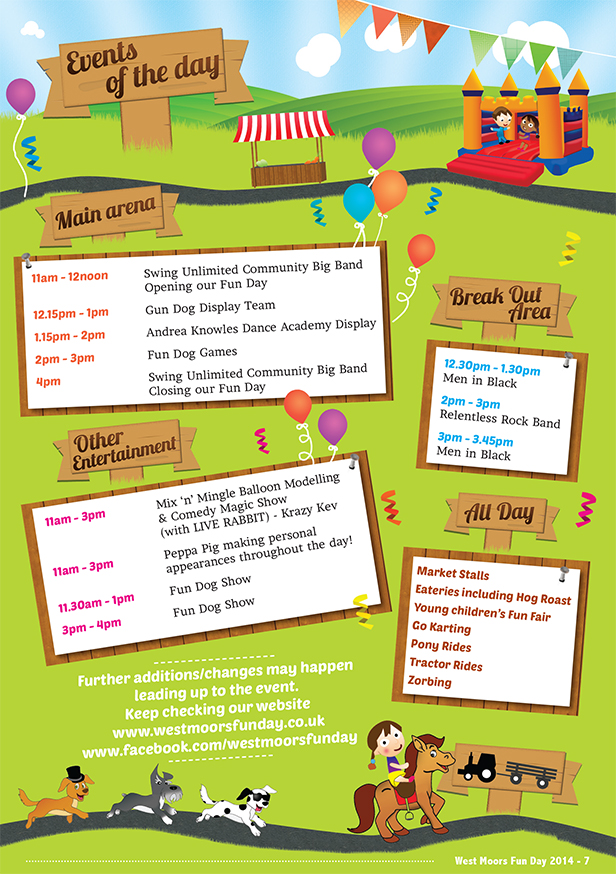 West Moors Fun Day Events