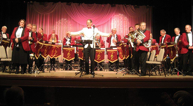 Ringwood and Burley Band on stage