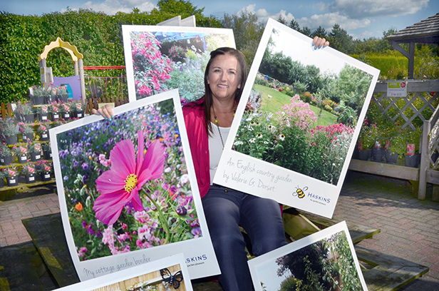 Lisa Looker with some of the downloaded gardeners' photos