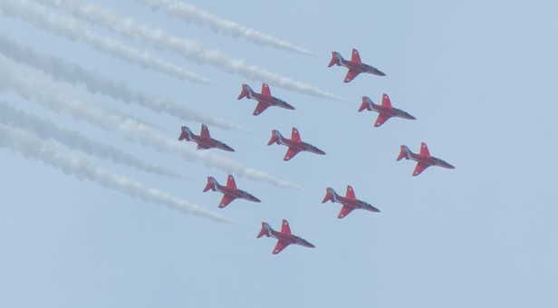 The Red Arrows over Ferndown