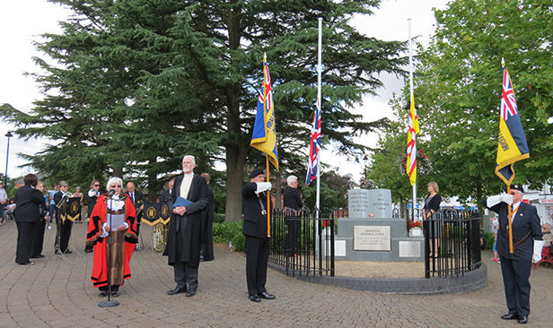 Verwood WW1 Memorial service