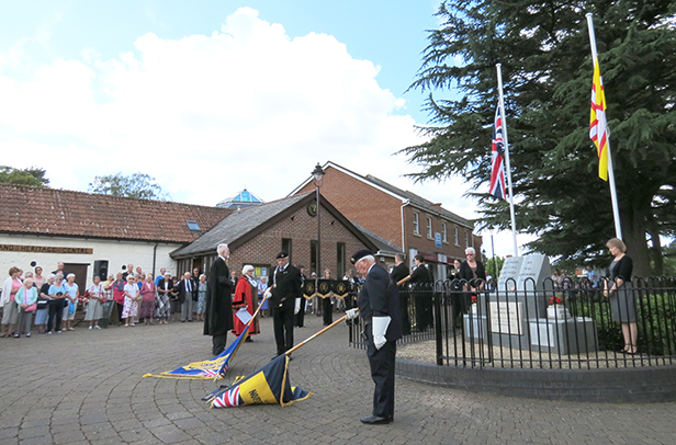 WW1 Memorial service Verwood