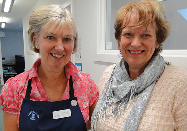 Exhibition organisers Sarah Kelly and Margaret Hasted