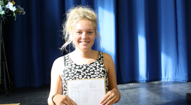 Beeca Powis who achieved 3 A*