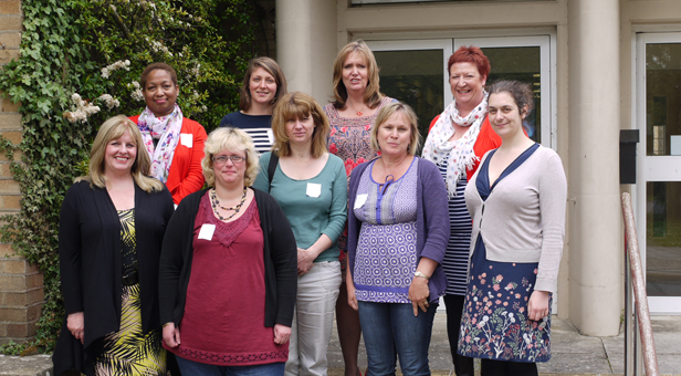 Nicola Lowe and Gill Donnell with the training group
