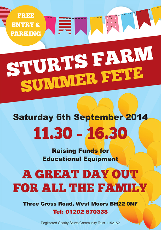 Sturts Farm Summer Fete flyer