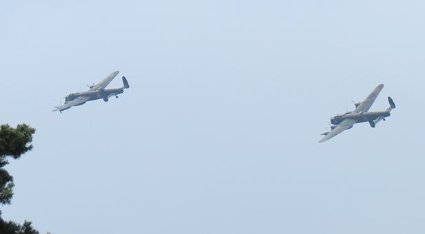 Lancaster Bombers flying over Ferndown