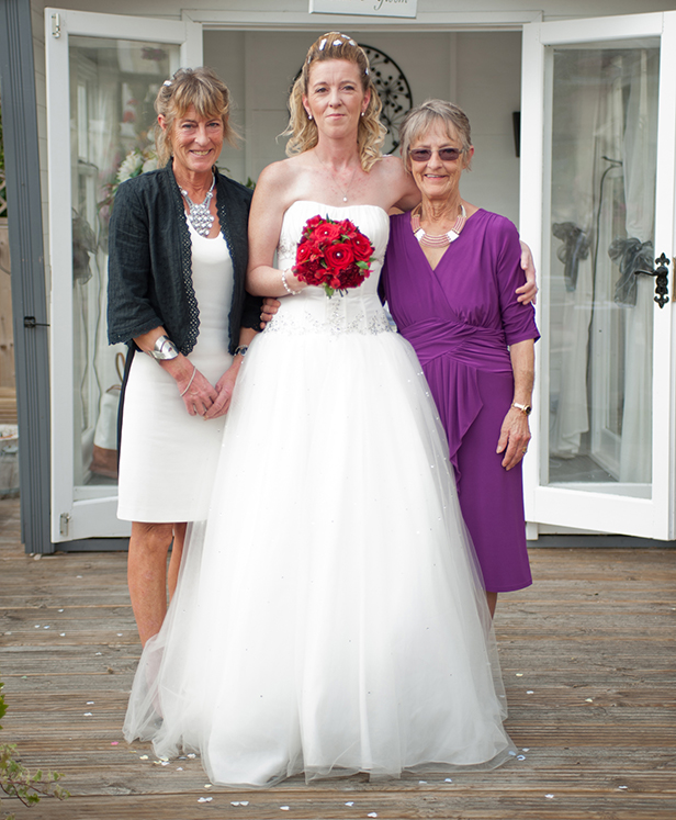 Clare with her mother and grandmother