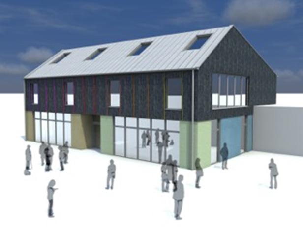 3D image of new Hamworthy Park Junior School