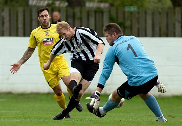 Two goal hero Jon Blake