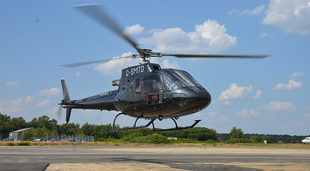 AS350 based at Airways Aviation at Bournemouth Airport