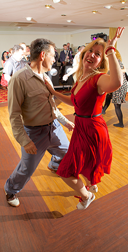 Denis and Linda Secretan of JitterbugJive. Dancers from the company will be giving a Lindy Hop demo before offering willing participants a dance lesson.