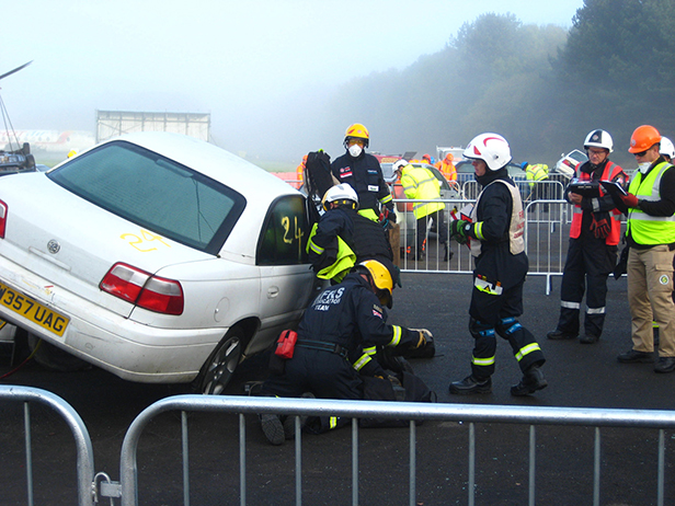 Road traffic collision scenario