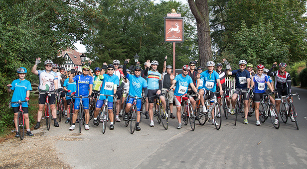 Bournemouth Hospital Charity cyclists