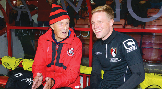 Mr Dicks with AFC Bournemouth manager Eddie Howe