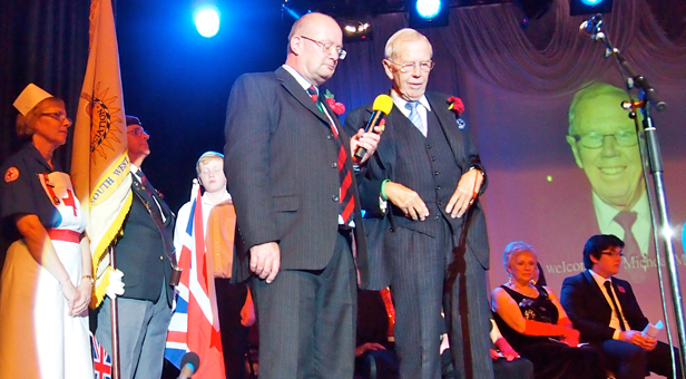 Cllr Steve Lugg and Michael Medwin OBE at the Ferndown event in 2013