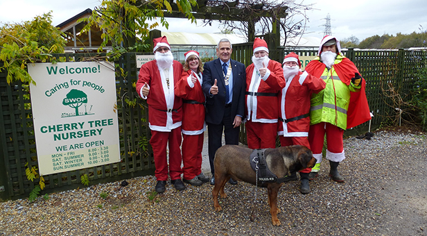 Santa at Cherry Tree Nursery