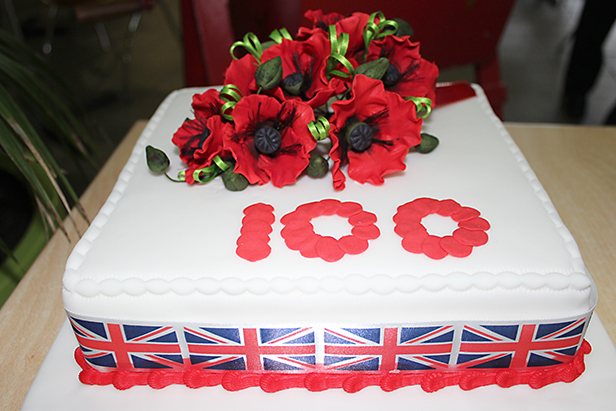 One of the donated cakes