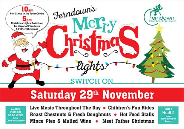 Ferndown Christmas Lights Poster