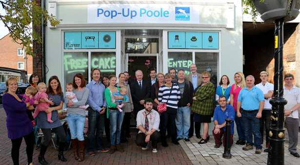Shoppers and businesses at Pop Up Poole.