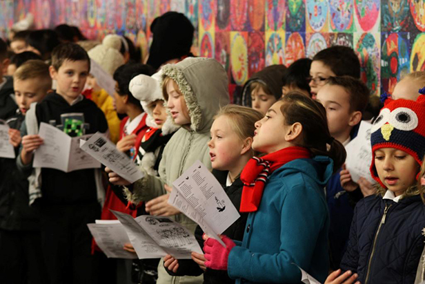 Malmesbury Park Primary School and Bethany School's Christmas carol service