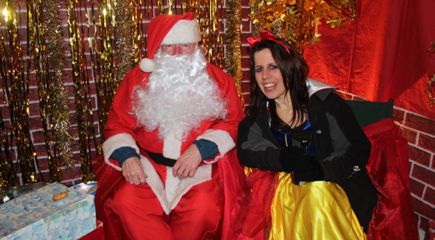 Santa and Snow White in the grotto