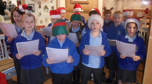 Hillside Community First School carol singing