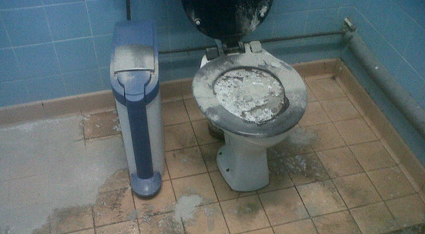 The vandalism discovered at Baiter Park toilet