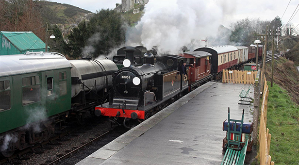 Some of the locomotives appearing at the Winter Warm Up