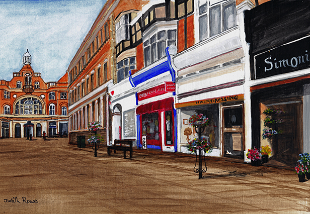 The Royal Arcade from Sea Road