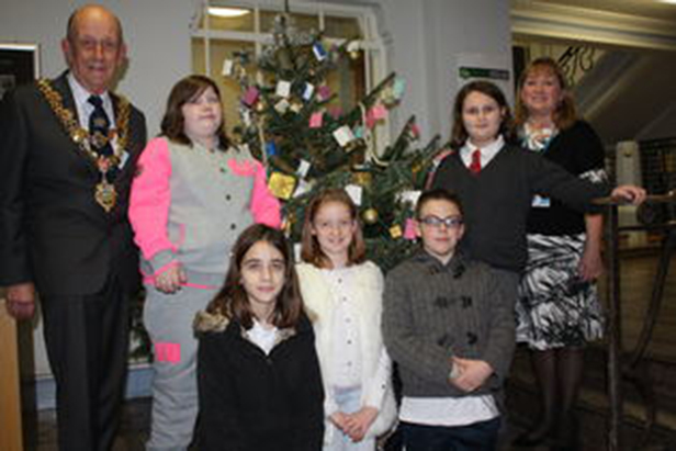 Poole Young Carers with Cllr Adams and Cllr Rampton