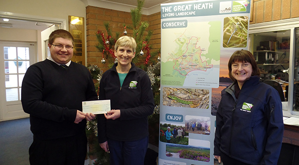 Dan Boucher, DWT's Nicky Hoar & DWT's manager of The Great Heath project Nicki Brunt