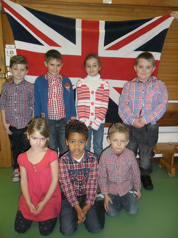 Red, White & Blue day at Oakhusrt School