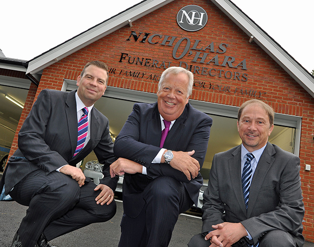 Nicholas O'Hara, Chairman (centre) with his son Anthony, Director (left) and Nick Love, Director, Princecroft Willis