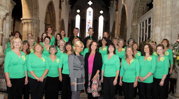 Vicky Gerrell of Cream and Co with Natasha Jones and the Leaf Choir