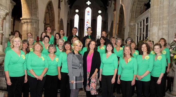 Vicky Gerrell of Cream and Co with Natasha Jones and the Leaf Choir