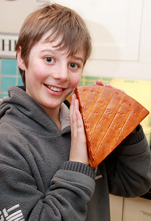 Toby Davies with his latest cheese squeeze, Dorset Red