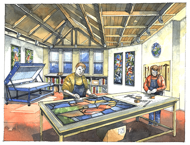 Artist Impression - Stained Glass Conservation Workshop