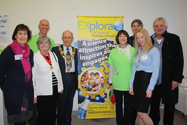 The Mayor and Mayoress of Poole with Trustees from EXplora Science