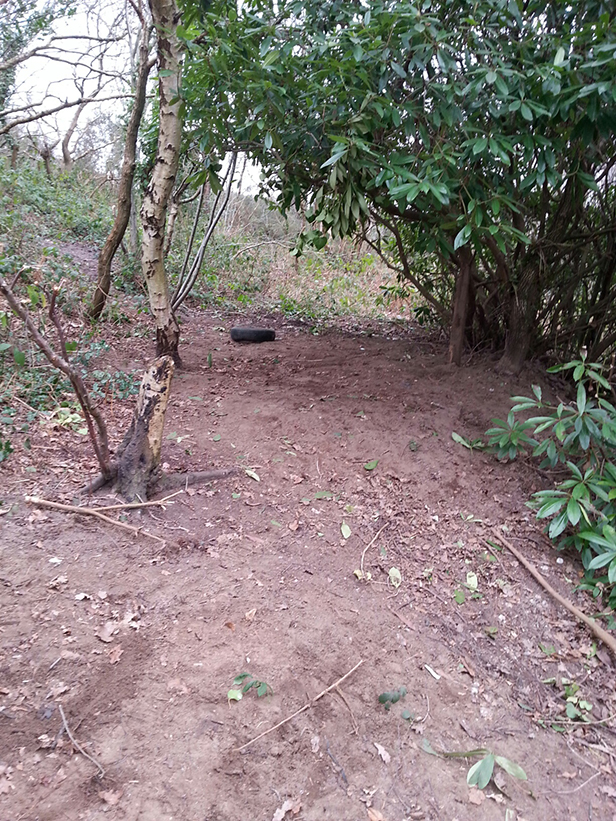 An image of the destroyed sett