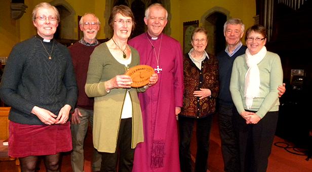 Bishop presents the Eco-Congregation Award