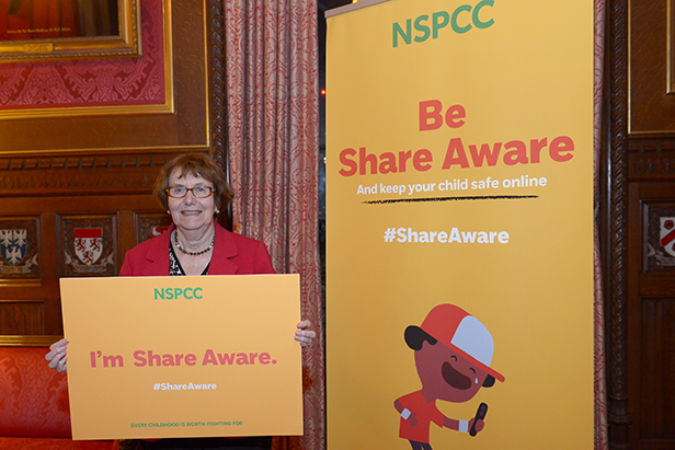 Annette at the 'Share Aware' event
