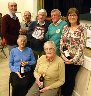 Wimborne Civic Society team is presented with the Eco-Composting Shield