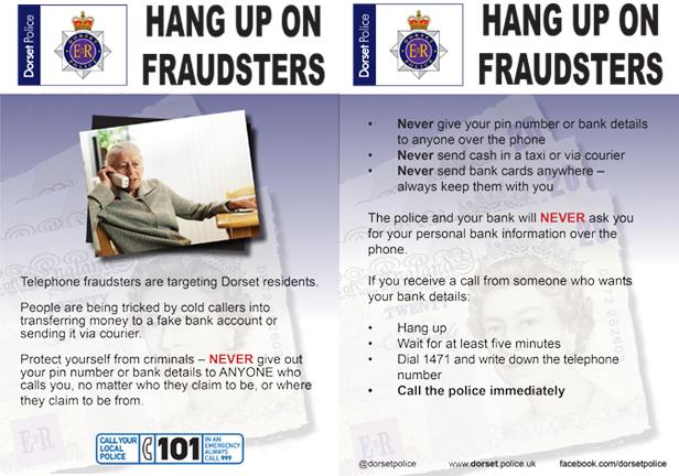 Police Hang up on fraudsters leaflet