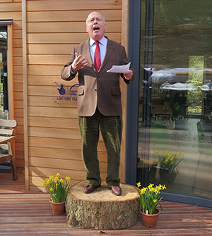 Lord Julian Fellowes at the opening of the Thomas Hardy Centre