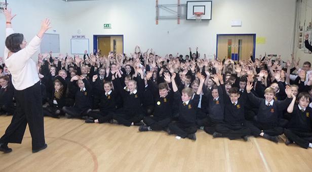 Allenbourn Middle School singing day