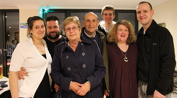 Alex and Lou Webb with family